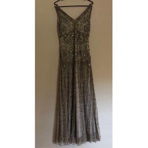 b74a62a6761 Pissarro Nights Sleeveless V Neck Beaded Gown